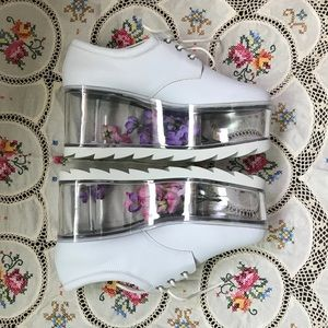 d7e02797d49e Urban Outfitters Shoes - RESERVED Y.R.U. Qloud Clear Platforms in White